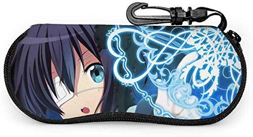 Estuche para gafas, diseño de Anime Girl Takanashi Rikka portátil con cremallera