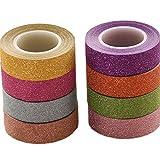 lumanuby 8Roll Washi Tape purpurina de papel klebebänder Fácil pura Color para Deko Diario/Cuaderno/Álbum/Cup/regalo cada rollo 10,0m ancho 1.5cm de klebebänder Serie