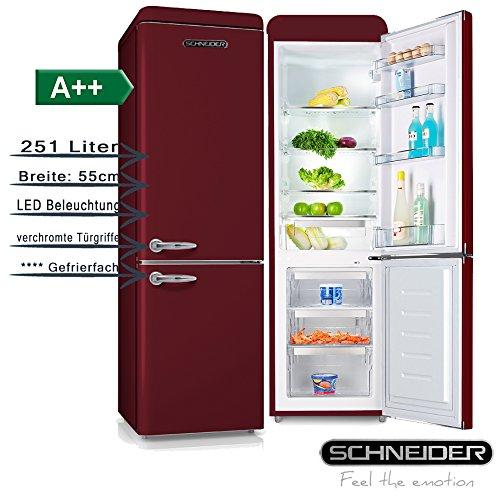SCHNEIDER CONSUMER SL 250 R-CB A++ nevera y congelador Independiente Rojo 251 L A++ - Frigorífico (251 L, N-ST, 42 dB, 4,5 kg/24h, A++, Rojo)