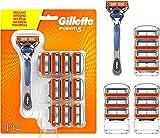Gillette Fusion 5 Maquinilla de Afeitar Hombre + 11 Cuchillas de Recambio, Regalos Originales para Hombre
