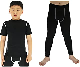 LANBAOSI Compression Shirts Pants Short Sleeve Base Layer Set