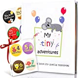 First 5 Years Baby Memory Book + 28 Monthly & Milestone Stickers. Record Your Girl or Boy Photos & Milestones. Keepsake Journal | Scrapbook | Photo Album. Modern Baby Shower Gift for Expecting Parents