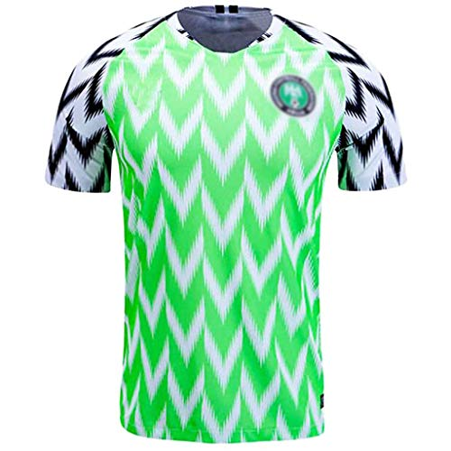 GHMEI Mens Soccer Top Jerseys Nigeria Football Shirts Adult Sports Athletics Retro Competition Mesh Adult Short Sleeve 2018 Russia World Cup-M