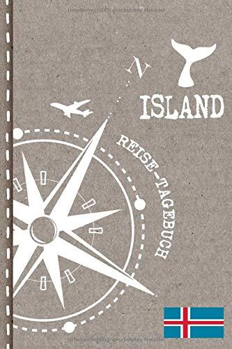 Island Reisetagebuch: Reise Tagebuch zum Selberschreiben, ca. A5 - Journal Dotted Punkteraster, Bucket List für Urlaub, Ferien Trip Tour, Auslandsjahr, Auswanderer - Notizbuch Dot Grid punktiert