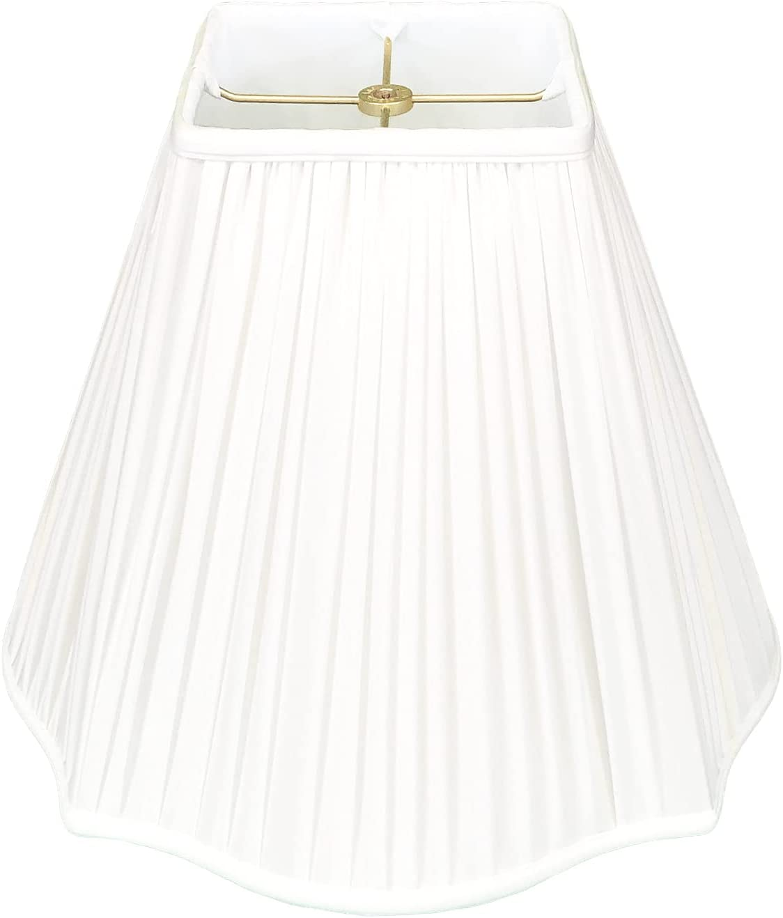 Royal Designs Fancy Large discharge sale Soldering Square Gather Pleat White Lamp Shade Basic