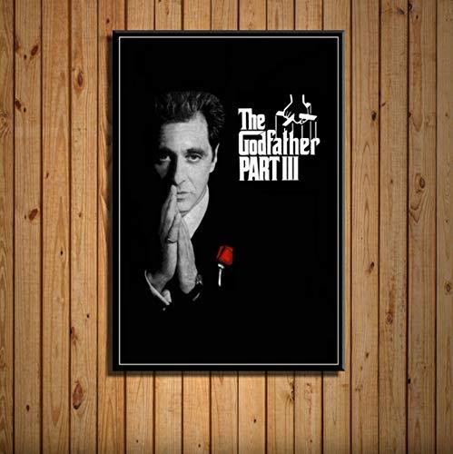 zpbzambm Frameless Wall Painting 40X50Cm - The Godfather Movie Series Marlon Brando Al Pacino Classical Art Silk Canvas Wall Poster Home Decor Artwork Zp-2600