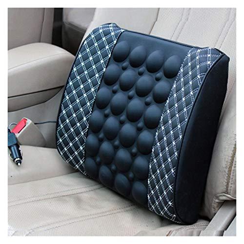 LingDian Ajuste de la almohada de la espalda para el asiento del automóvil Soporte de respaldo Masaje eléctrico Lumbar para el asiento del asiento del asiento del automóvil Atención médica Lumbar Pad