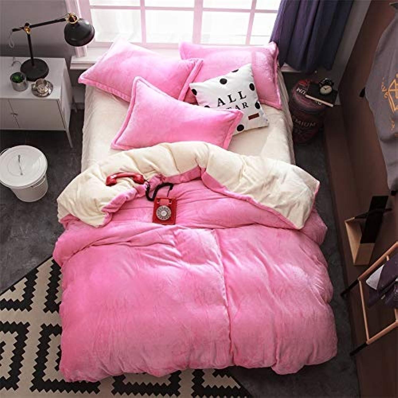 punto de venta Muzi928 Textile Skin-Friendly Warm Flannel Active Solid Color Double-Spun Double-Spun Double-Spun Bedding Bed Linen Quilt Cover pillowcase200233  mejor servicio