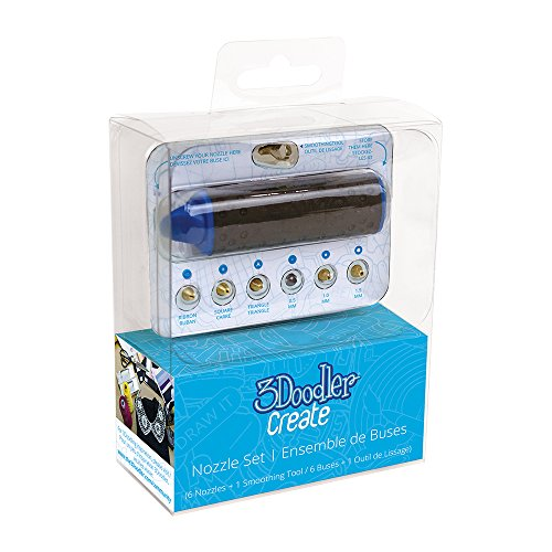 3Doodler Nozzle Set and Holder for Create & 2.0 - 3
