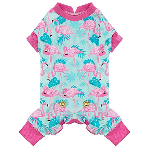 kyeese Dog Pajamas Flamingo Stretchy Soft Dog Pjs for Medium Dogs Dogs Hair Shedding Cover Doggie Jammies Dog Clothes