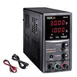 TACKLIFE DC Power Supply Variable, Adjustable Switching Regulated Power Supply 30V 10A with Course and Fine Adjustments, 4-Digits Display, Data Hold - 115CM Alligator Leads Included MDC02