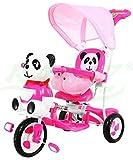 BSD Kinder Dreirad-Schaukelsitz 2 In 1 Panda Kinderwagen - Rosa