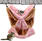 Hamster 3 couches Hamster Hammock cage cage épaissie en flanelle chaude chaude chaude suspendue de nids tunnel tube tunnel de nid pour petit animal perroquet glueur Screin Screirel Chinchilla Hedgehog