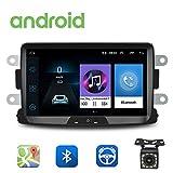 Autoradio Android pour Renault Dacia GPS CAMECHO 8 Pouces écran Tactile capacitif Lecteur stéréo de Voiture WiFi Bluetooth récepteur FM Double USB pour Sandero Duster Logan Dokker