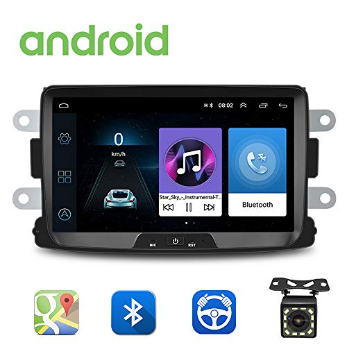 Android Autoradio für Renault Dacia GPS Navigation CAMECHO 8 Zoll Kapazitiver Touchscreen Auto Stereo Player WiFi Bluetooth FM Empfänger Dual USB für Sandero Duster Logan Dokker