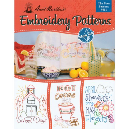 Aunt Martha's 411 Four Seasons Embroidery Transfer Pattern Book Kit