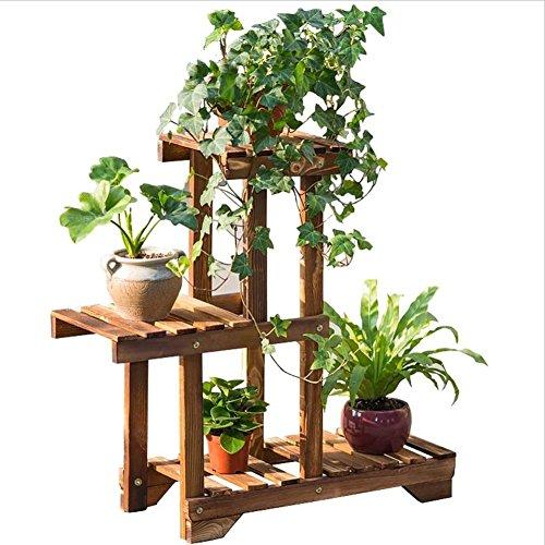 Charbon de bois Grillé Fleur Rack/Stand Plant Fleur Présentoir Balcon Salon Fleur Étagère À L'intérieur