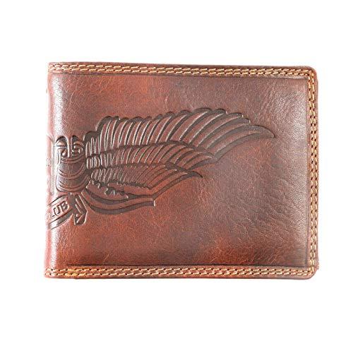 Herren Geldbörse Echt Leder Portemonnaie mit RFID Schutz,Schutz vom Daten Diebstahl vom Pedro