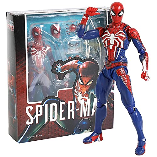 SHF Marvel Avengers Spider Man Upgrade Suit Ps4 Game Edition Spiderman Action PVC Figure Modello Da Collezione Toy Doll Gift