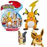 Pokemon Selección Battle Figures | Conjunto de 3 Juego de Figuras de Acción, Figuras del Juego:Raichu. Morpeko & Eevee