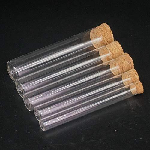 XUBF-GUAN, 12mm 15MM 18MM 20MM 25MM 30MM 35MM 40mm Länge 100mm Laborglas Reagenzglas Flachboden mit Holz Stopper Thermostabilität (Capacity : 18x100mm)