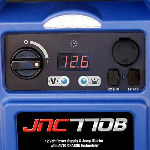 Clore Automotive Jump-N-Carry JNC770B 1700 Peak Am   p Premium 12 Volt Jump Starter - Blue w/Cover