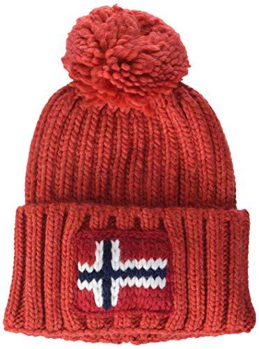 Napapijri Herren Semiury Mütze Strickmütze, Rot (Orange Red A60), One Size (Herstellergröße: D)