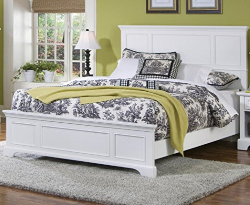 Naples White Queen Bed by Home Styles