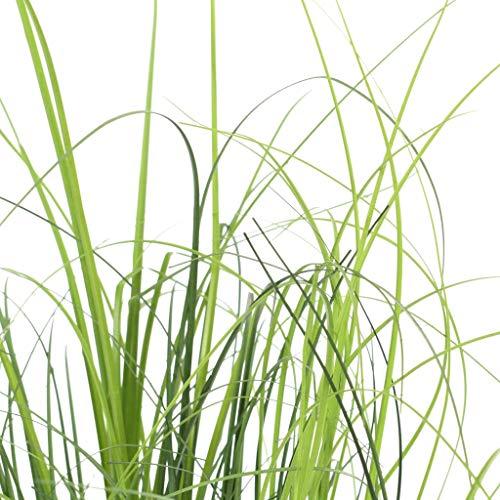 vidaXL Kunstgras Grün Kunstpflanze Dekogras künstliches Gras Grasbusch Graspflanze Dekopflanze künstliche Pflanzen Zimmerpflanze Kunstpflanzen 130cm