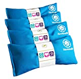 Happy Wraps Namaste Yoga Eye Pillows - Lavender Eye Pillows for Yoga - Hot Cold Aromatherapy Eye Pillow for Yoga and Relaxation Gifts - Set of 4 - Turquoise