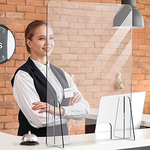 80'H 32' W Piso Starreeze Guard Portable Portable Banner con escudo de pantalla transparente para oficina, tiendas, restaurante, aula y más