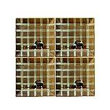 GSHIYA 2-4 Piezas Conjunto de Cena de cerámica vajilla, Placa Cuadrada Elk combinación Placa de Cena Comida Occidental, para 2-4 Personas,4 Piece Set