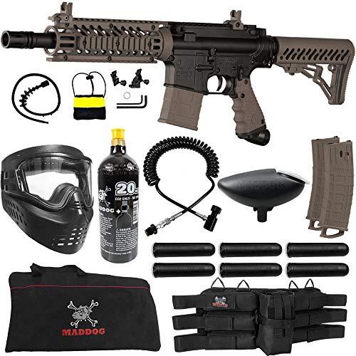 Tippmann TMC MAGFED Corporal Paintball Gun Package - Black/Tan