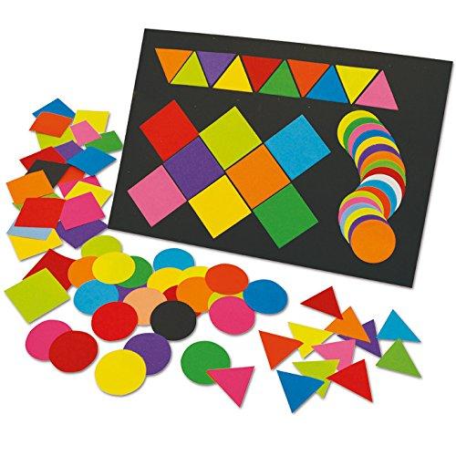 Springboard voorgesneden gekleurd papier Mega Mozaïeken - 5 x 5 cm (Pak van 2000) - Vierkant, Driehoek, Cirkel
