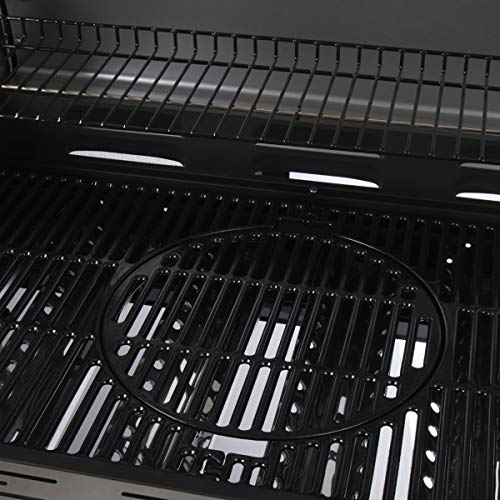 Outback Meteor 6-Burner Gas Barbecue with Multi Cook Plate System - Stainless Steel