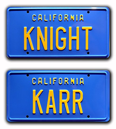Knight Rider | KNIGHT + KARR | Metal Stamped License Plates