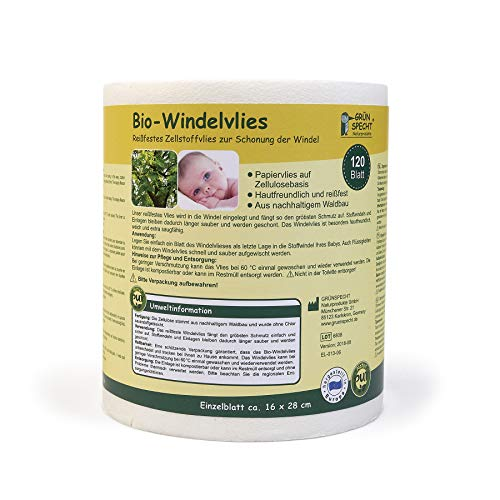 Grünspecht Bio Windelvlies 120 Blatt 676-00