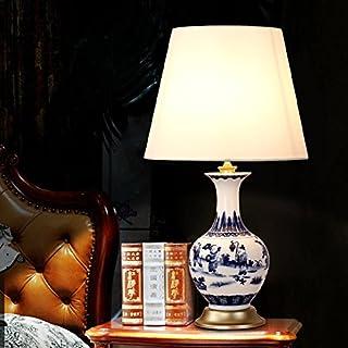 FDH Warme Warme Warme Schlafzimmer Nachttischlampe Keramik Tischleuchte Stil Wohnzimmer Arbeitszimmer Blau Und Weiß Dekoration, 220V, 300  545 mm B06XX3Y8FD  Qualitätskönigin 235ba0