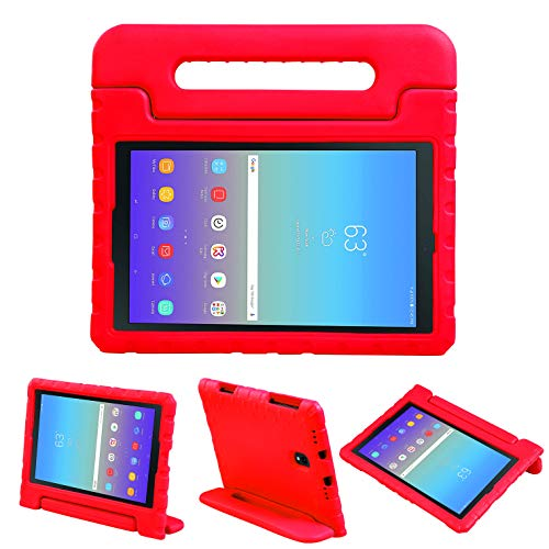 NEWSTYLE Kids Case for Galaxy Tab A 10.5 2018 Model SM-T590/T595/T597, Light Weight Shockproof Handle Stand Kids Friendly Case Cover for Samsung Galaxy Tab A 10.5-inch 2018 Released Tablet (Red)