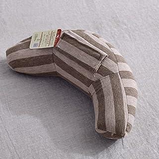 YYBF Almohada de Coche de Seguridad para niños Almohada de Viaje en Forma de U 35 * 15cm Gris marrón