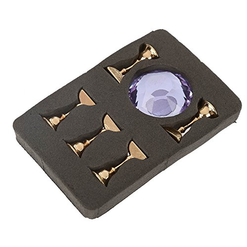 Nail Tip Stand, Magnetic Nail Tip Ovale Crystal Practice Stand Base Alloy Holder Nail Art Display Stand, Crystal And Alloy Material, Exquisite And Durable Purple