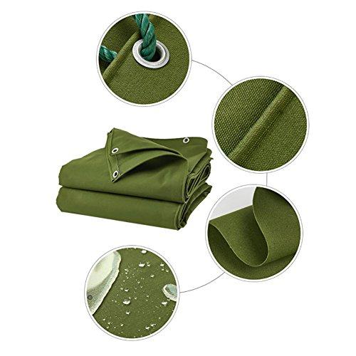Bâche double épaisse imperméable à l'eau pour la conservation de la bâche résistante à la pluie Épissure de tente antichute de tente pare-pluie auvent pare-soleil couvre au sol couvert de toile de rem
