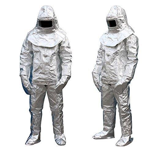 Aluminum Foil Heat Resistant Fireproof Clothing,1000 Degree Centigrade F.ire-proof Suit Inflaming Retarding Suit Full Set,Fire.fighter Uniform