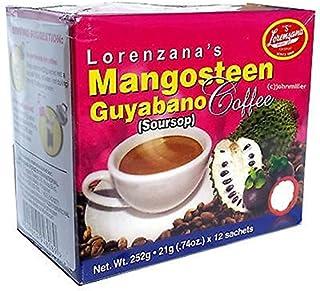 Lorenzana's Mangosteen Guyabano Coffee, 12 sachets of 21 grams