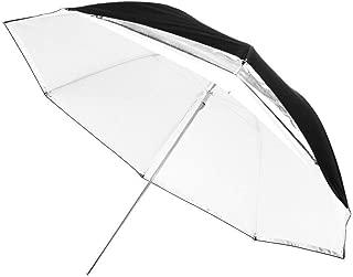 Fovitec - 1x 43 inch Translucent Photography & Video Convertible Reflector Umbrella - [EZ Set-up][Lightweight][Cast-Iron][Collapsible][Durable Nylon]