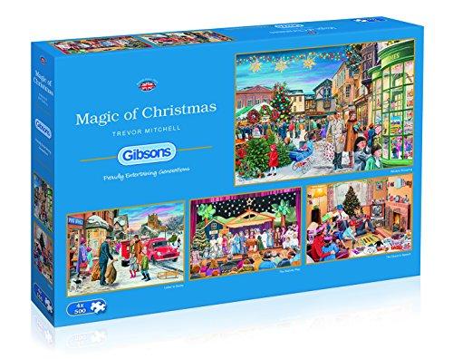 Puzzle de la Magia de la Navidad, 4 x 500 Piezas