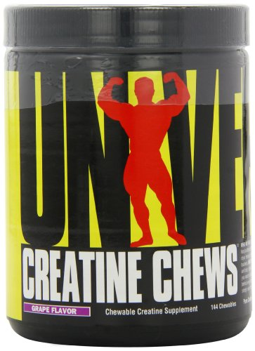Universal Nutrition Creatine Chews Glykogen Creatin Matrix 144 Kautabletten (Grape - Traube)