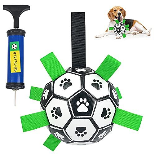 Juguetes para Perros Juguete Perro de Fútbol Pelota Perro con Aguja y Bomba Ideal Juguete de Agua para Perros Adecuado para...