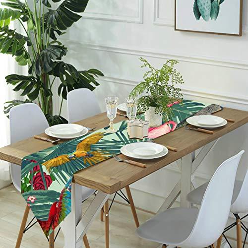 Zhark, runner da tavola per comò, sciarpe tropicali, divertenti, segna del tempo, da cucina, runner da cucina, per cene in fattoria, feste, matrimoni, eventi, decorazioni – 30 x 180 cm