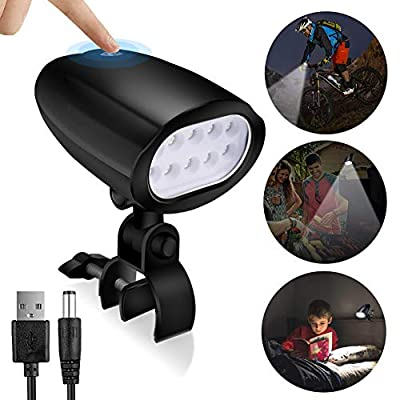 ALOVECO Barbecue Grill Light Chargeable, 360° Rotation Super Bright LED Grill Light for Any Gas Charcoal Electric BBQ Light Grilling Accessories, Waterproof BBQ Lamp for Camping, Biking, Reading